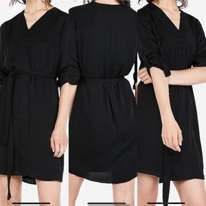 EXPRESS shirt dress with tie waist